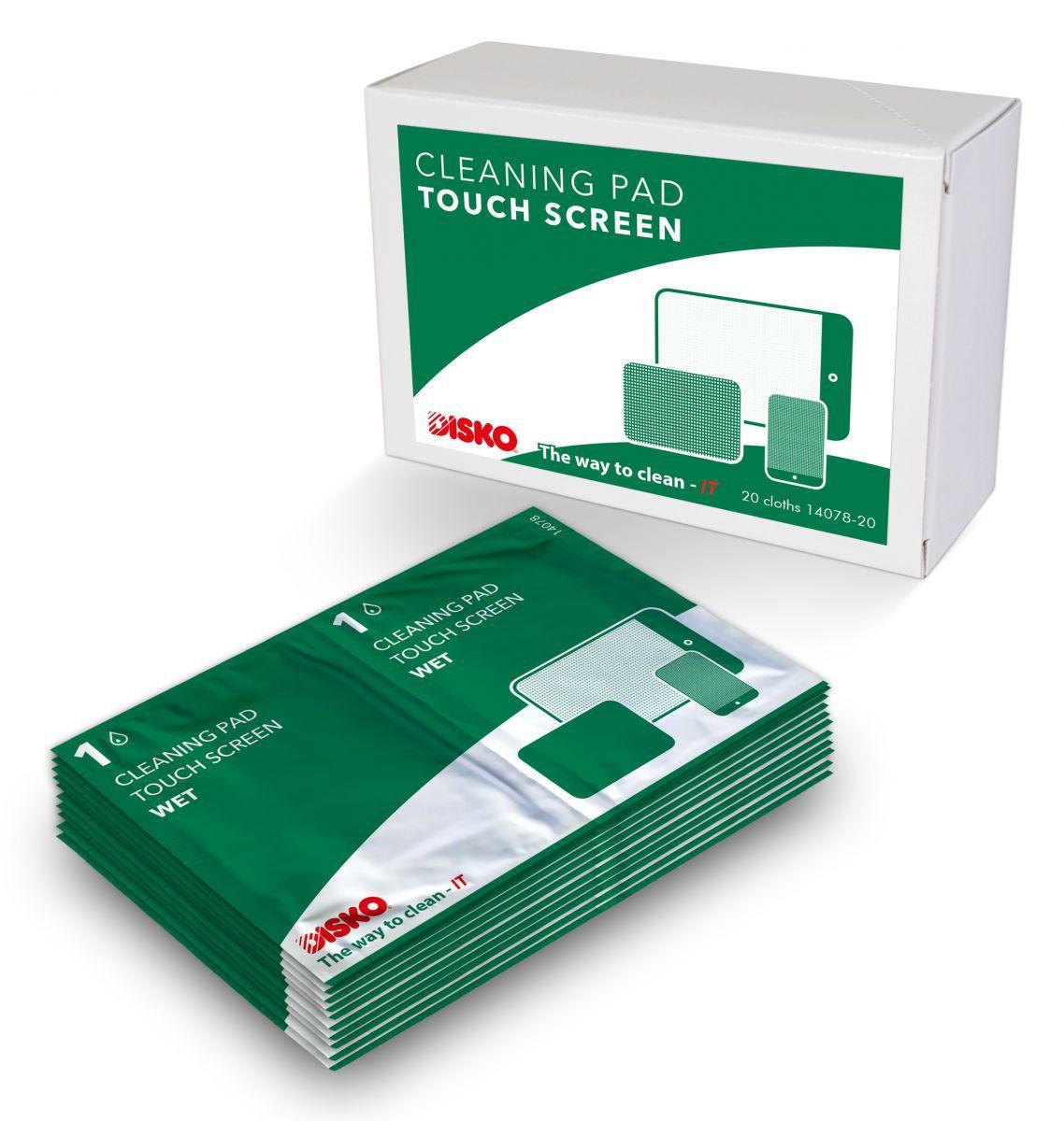 product foto van disko reinigingspads voor touchscreens