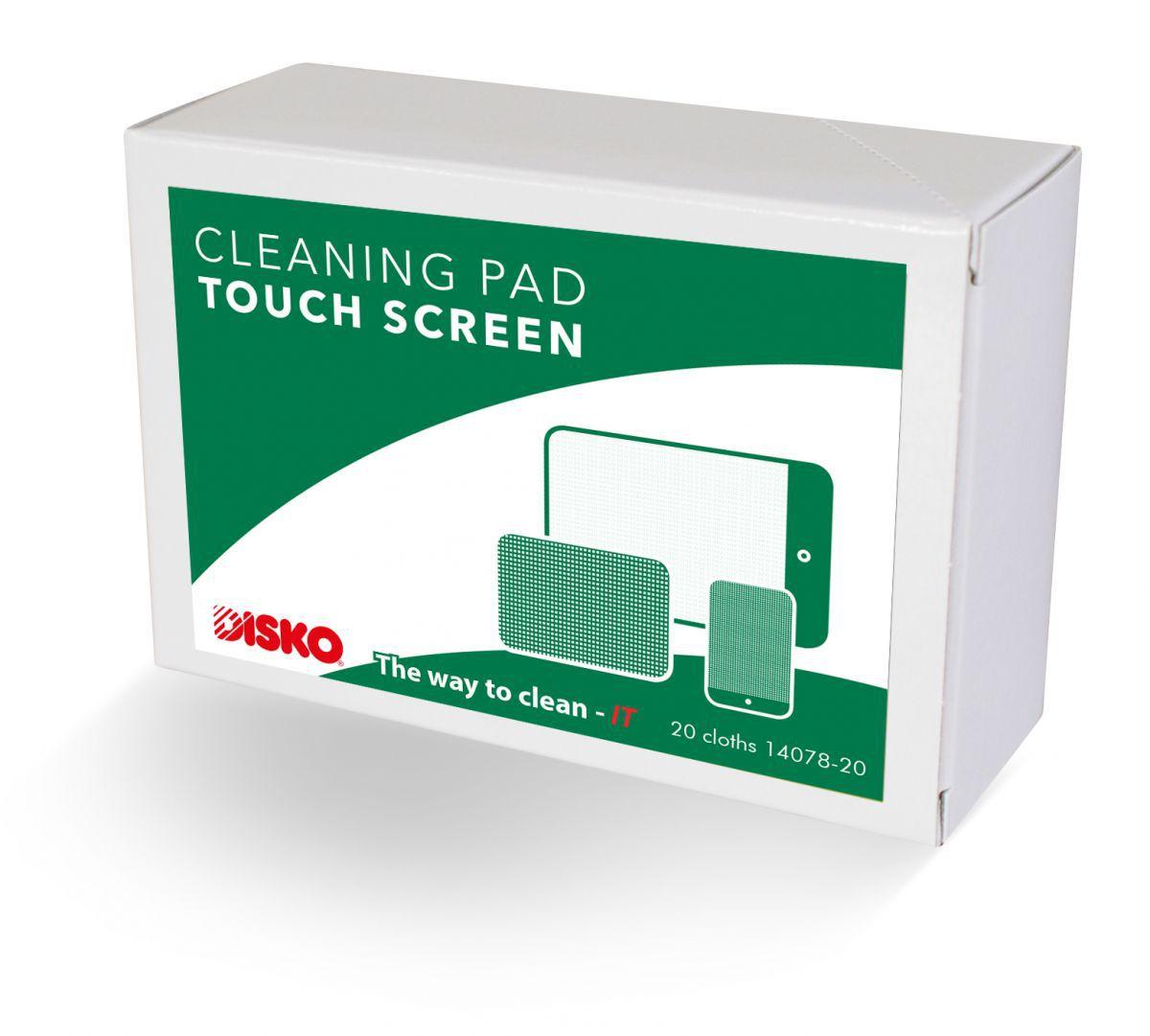 product foto van disko reinigingspads voor touchscreens doosvooraanzicht